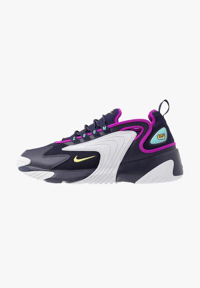 Nike Sportswear - ZOOM 2K - Trainers - blackened blue/dynamic yellow/white/aurora green/hyper violet