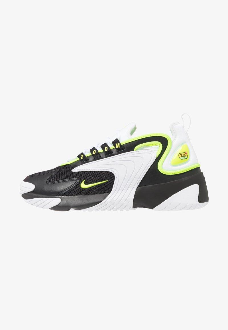 Nike Sportswear - ZOOM 2K - Sneakersy niskie - black/volt/white
