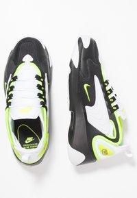 Nike Sportswear - ZOOM 2K - Sneakers - black/volt/white - 1