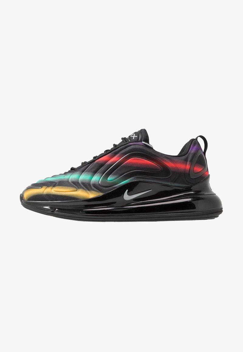 Nike Sportswear - AIR MAX 720 - Sneakersy niskie - black/metallic silver/university gold/flash crimson/kinetic green/psychic purple