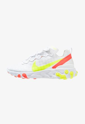 REACT ELEMENT 55 - Sneakers - white/volt/flash crimson/hyper crimson