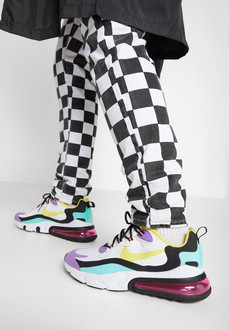 Nike Sportswear - AIR MAX 270 REACT - Tenisky - black/bicycle yellow/teal tint/violet star/pink blast/white