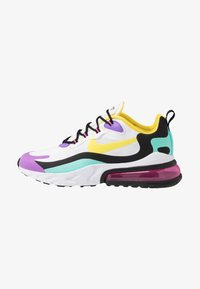 Nike Sportswear - AIR MAX 270 REACT - Tenisky - black/bicycle yellow/teal tint/violet star/pink blast/white - 1