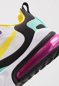 Nike Sportswear - AIR MAX 270 REACT - Tenisky - black/bicycle yellow/teal tint/violet star/pink blast/white - 8