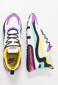 Nike Sportswear - AIR MAX 270 REACT - Tenisky - black/bicycle yellow/teal tint/violet star/pink blast/white - 2
