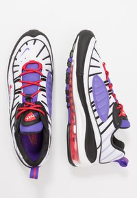 Nike Sportswear - AIR MAX 98 - Sneakers basse - white/black/psychic purple/university red - 1