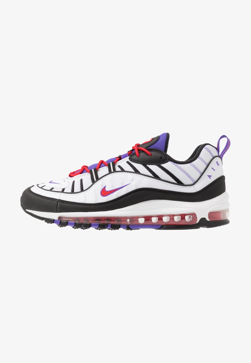 Nike Sportswear - AIR MAX 98 - Sneakers basse - white/black/psychic purple/university red