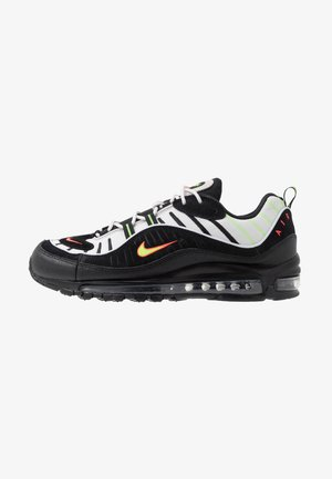 AIR MAX 98 - Sneakers - platinum tint/black/electric green/bright crimson