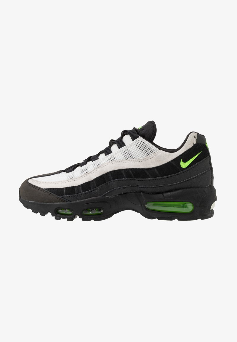 Nike Sportswear - AIR MAX 95 ESSENTIAL - Trainers - black/electric green/platinum tint/crimson