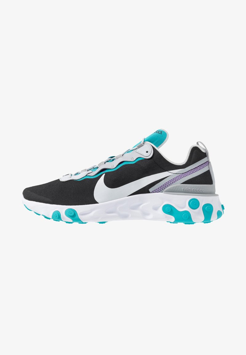 Nike Sportswear - REACT 55 - Sneaker low - black/pure platinum/wolf grey/teal/voltage purple/white