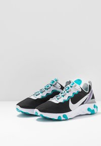 Nike Sportswear - REACT 55 - Sneaker low - black/pure platinum/wolf grey/teal/voltage purple/white - 3