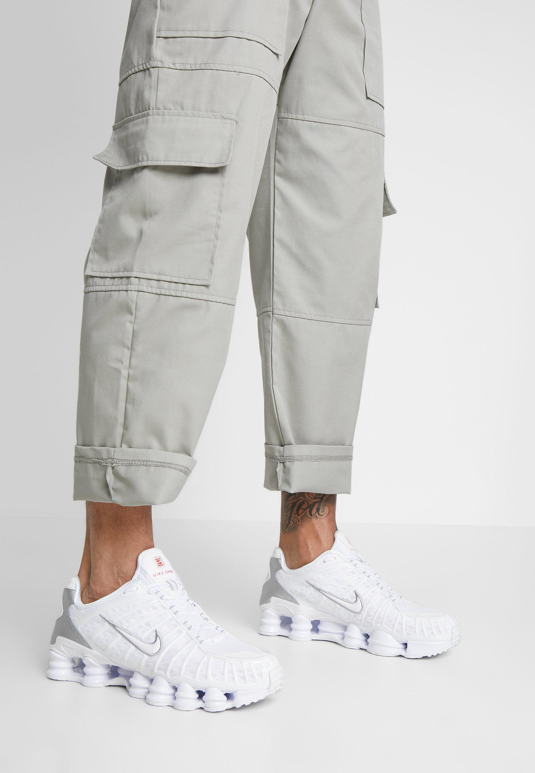 Nike Shox TL Herrenschuh Sneakers basse whitemetallic silvermax orange