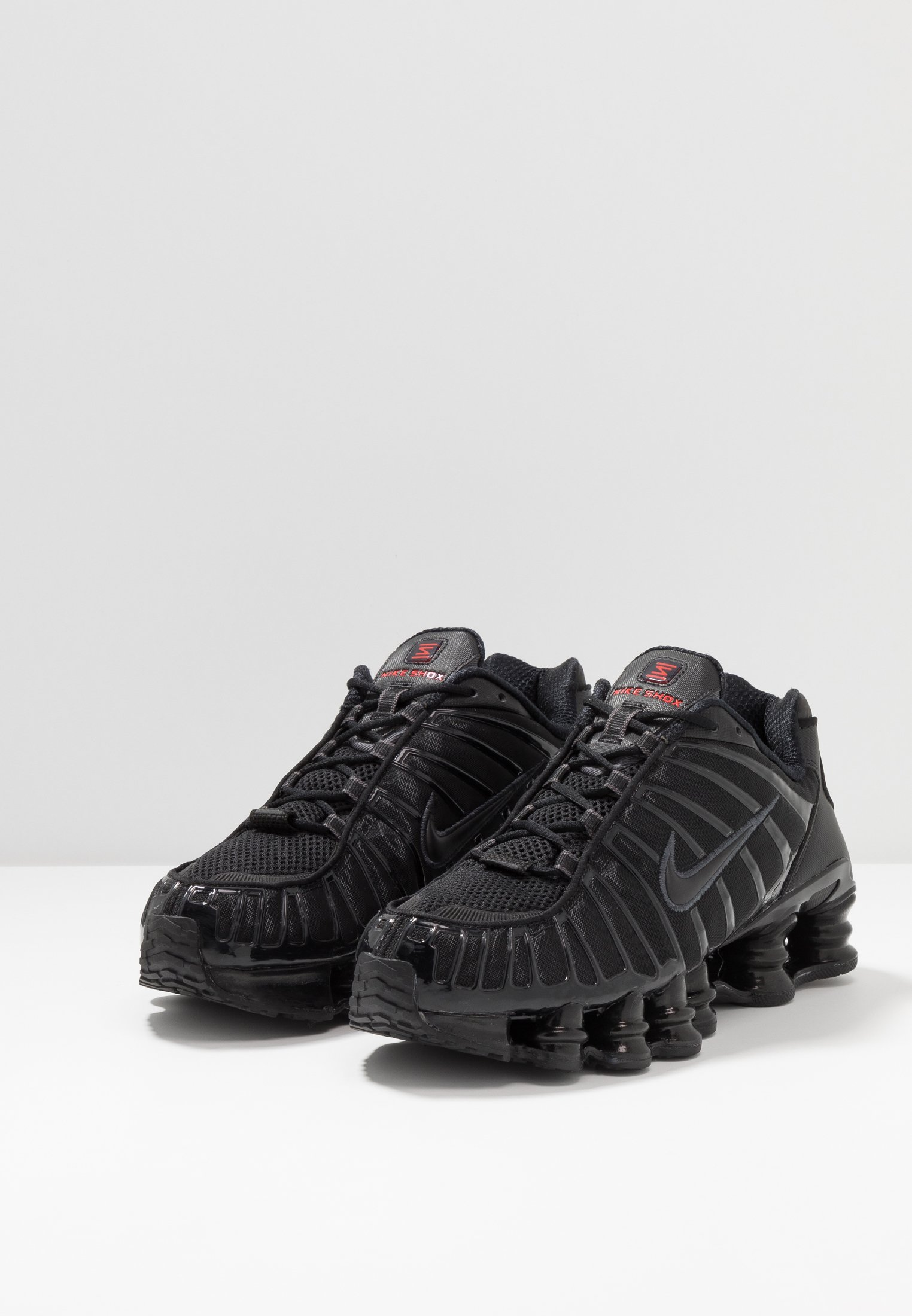 Nike Sportswear SHOX TL - Sneakers - black/metallic hematite/max orange