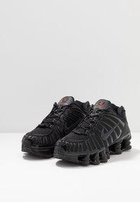 Nike Sportswear - SHOX TL - Trainers - black/metallic hematite/max orange - 3