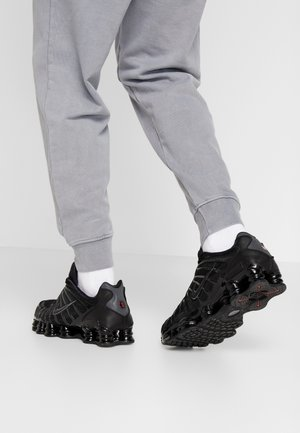 SHOX TL - Matalavartiset tennarit - black/metallic hematite/max orange