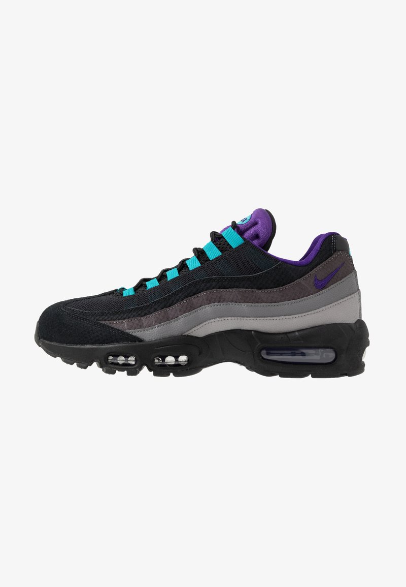 Nike Sportswear - AIR MAX 95 LV8 - Matalavartiset tennarit - black/court purple/teal/thunder grey/gunsmoke/atmosphere grey