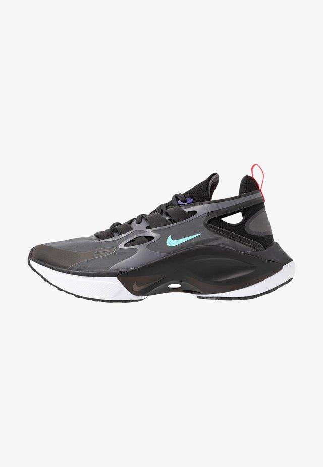 SIGNAL D/MS/X - Sneakersy niskie - black/dark grey/off noir/rush violet/light aqua/red orbit