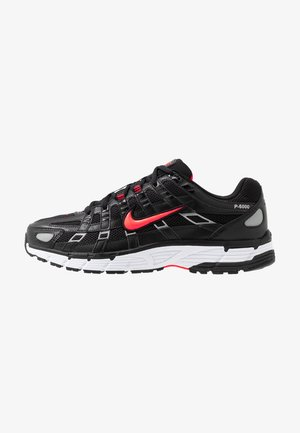 P-6000 - Zapatillas - black/bright crimson/white/metallic silver