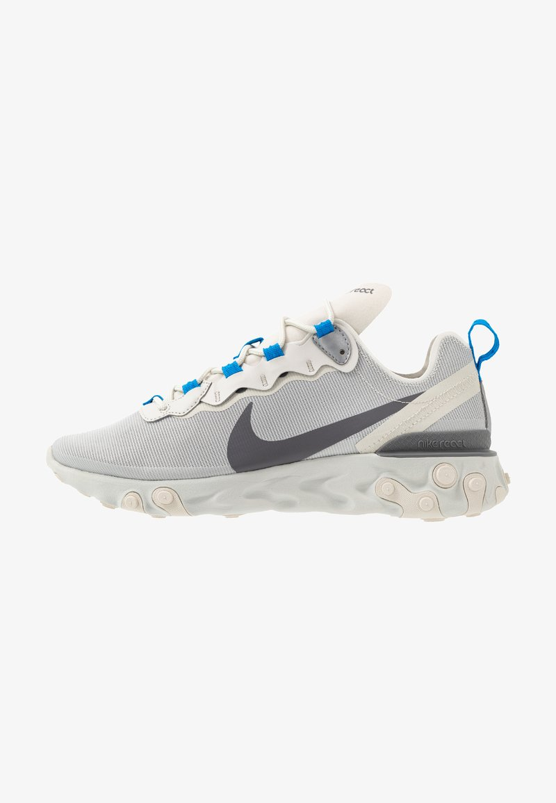 Nike Sportswear - REACT - Sneakers - light bone/dark grey/metallic silver