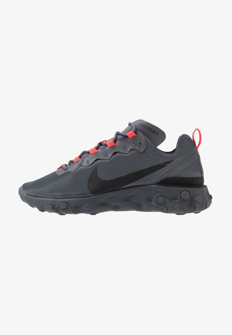 Nike Sportswear - REACT - Sneakers - dark grey/black/metallic dark grey
