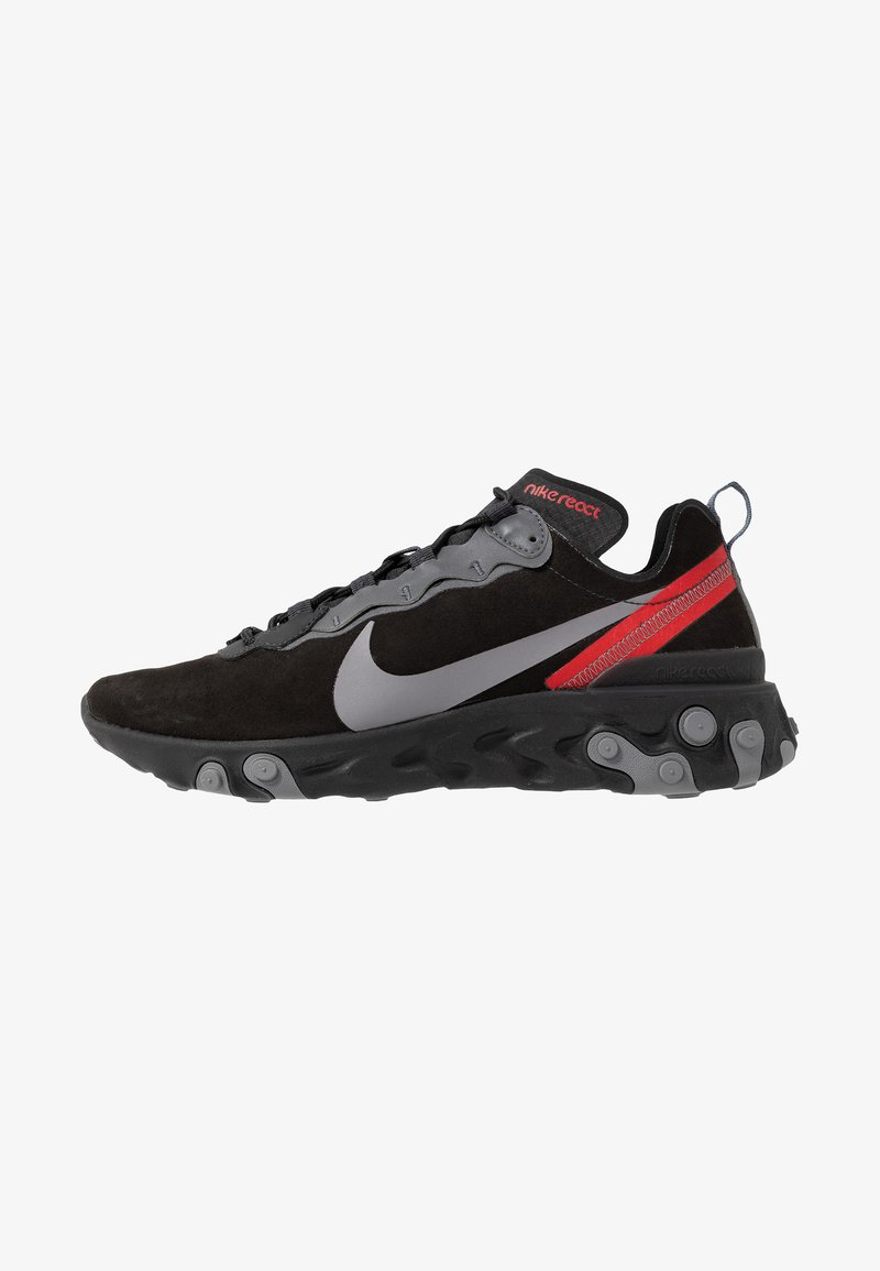 Nike Sportswear - REACT ELEMENT 55 - Baskets basses - off noir/gunsmoke/black/universe red