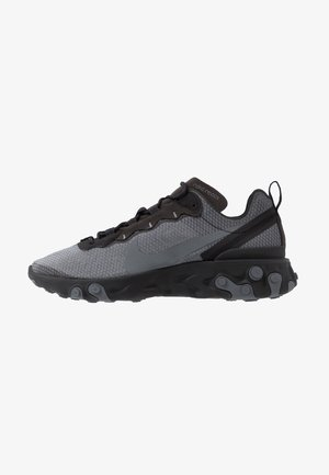 REACT 55 SE - Matalavartiset tennarit - black/dark grey