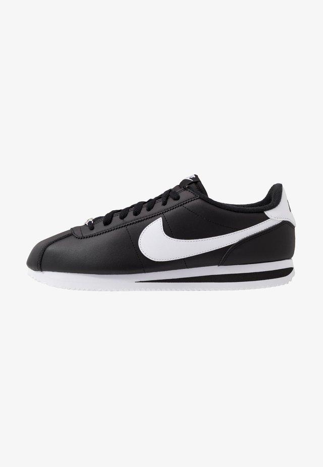 CORTEZ BASIC - Sneaker low - black/white/metallic silver