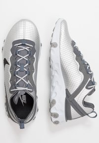 Nike Sportswear - REACT ELEMENT 55 - Sneakers - metallic silver/black/pure platinum/dark grey