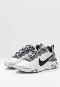 Nike Sportswear - REACT ELEMENT 55 - Sneakers - metallic silver/black/pure platinum/dark grey - 2