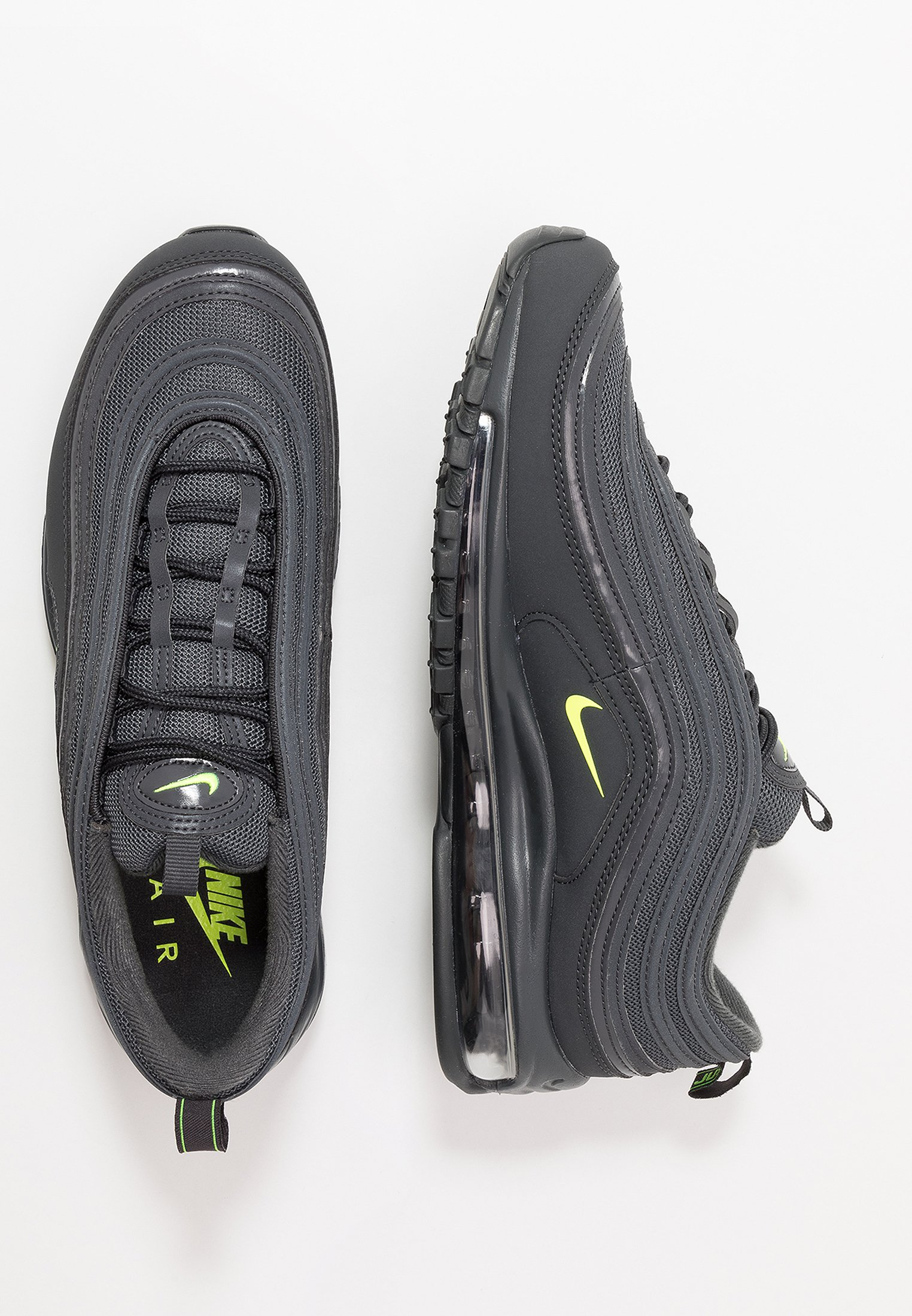 Nike Sportswear AIR MAX 97 - Sneakers - anthracite/volt/electric green/cool grey