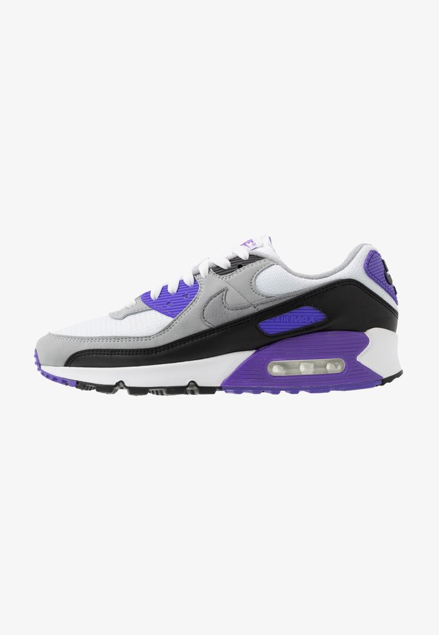 AIR MAX 90 - Sneakersy niskie - white/particle grey/light smoke grey/black/hyper grape