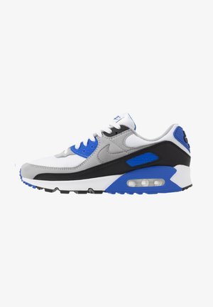 AIR MAX 90 - Sneaker low - white/particle grey/light smoke grey/black/hyper royal