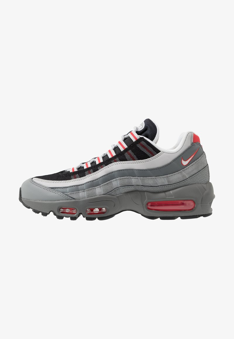 Nike Sportswear - AIR MAX 95 ESSENTIAL - Sneakers basse - track red/white/particle grey/black/grey fog/track red