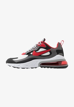 AIR MAX  REACT - Sneakersy niskie - black/university red/white/iron grey/particle grey