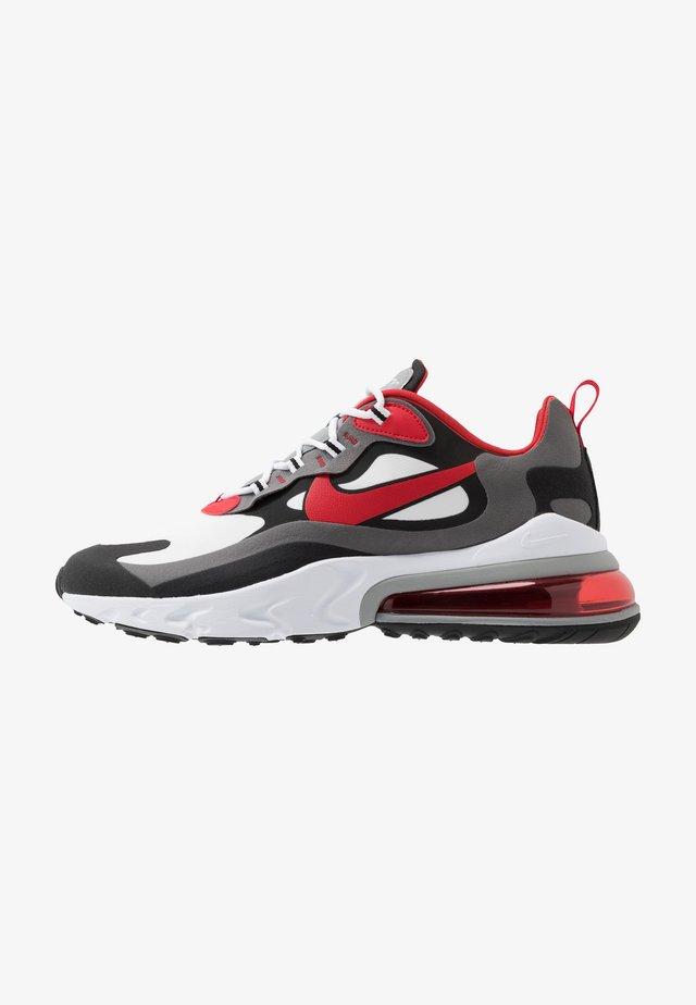 AIR MAX  REACT - Tenisky - black/university red/white/iron grey/particle grey