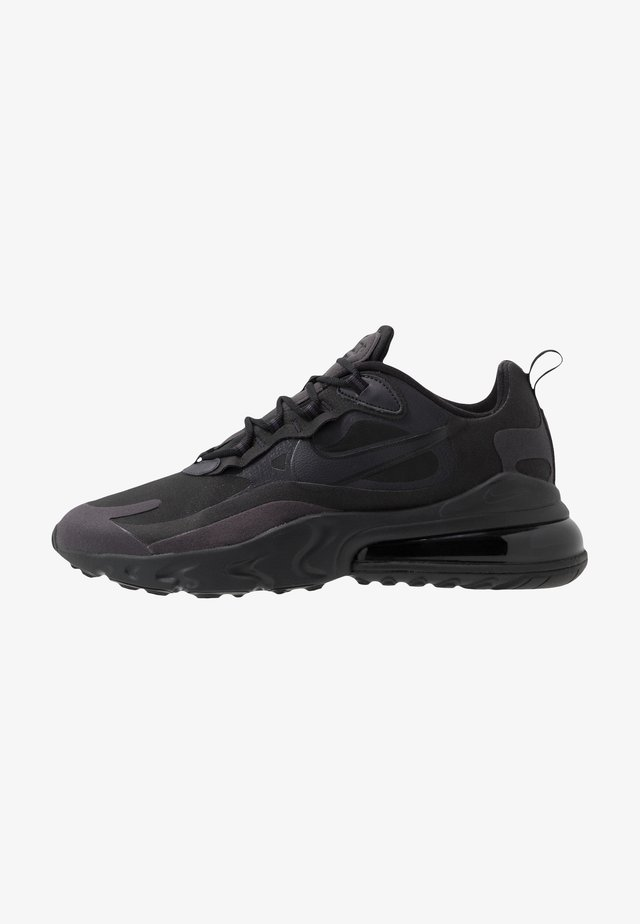 AIR MAX  REACT - Sneakersy niskie - black/oil grey/white