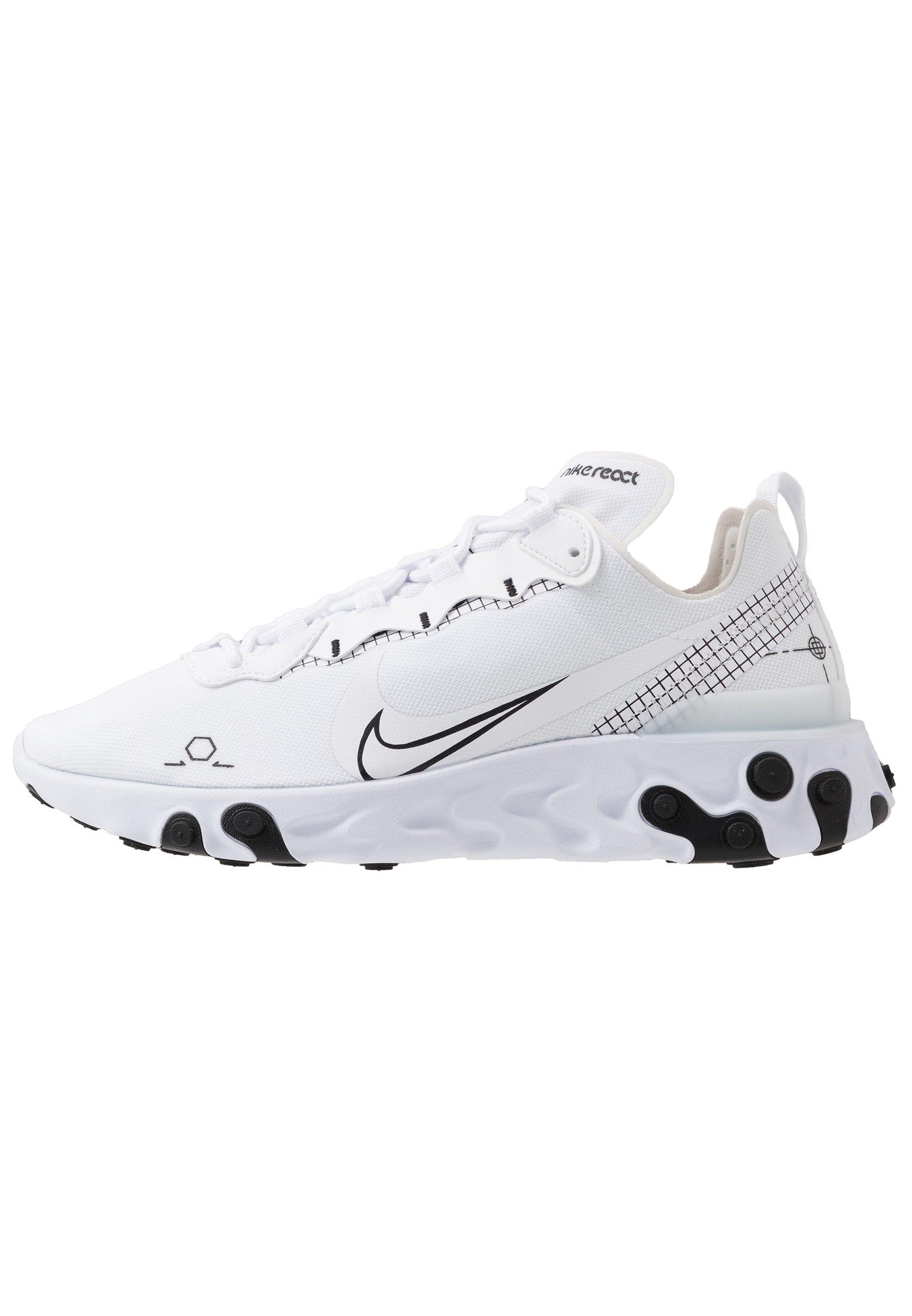 Nike Sportswear REACT 55 - Sneakers basse - black/white - Zalando.it