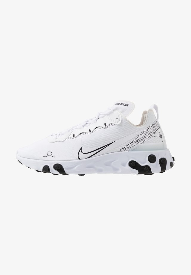 REACT 55 - Sneakers laag - white/black