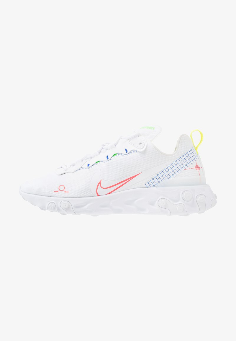 Nike Sportswear - REACT 55 - Baskets basses - white/laser crimson/racer blue/green strike/lemon/black
