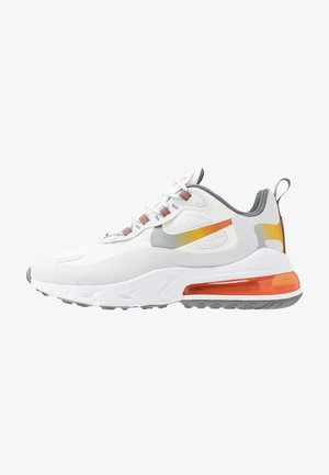 AIR MAX 270 REACT - Sneakersy niskie - summit white/metallic gold/vast grey/smoke grey/team orange/white