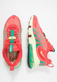 Nike Sportswear - AIR MAX 270 REACT ENG - Sneakers laag - track red/barely volt/magic ember/neptune green/team red - 1