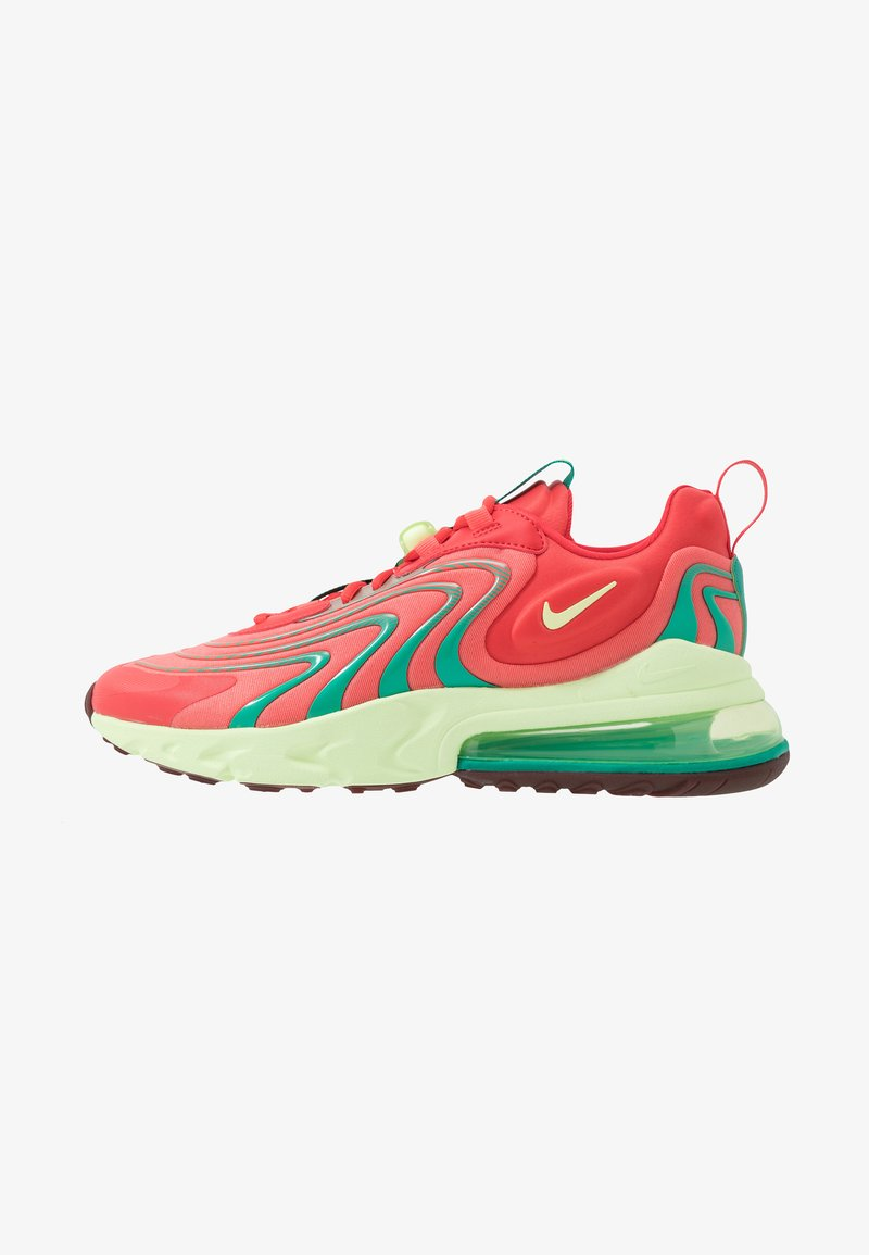 Nike Sportswear - AIR MAX 270 REACT ENG - Sneakers laag - track red/barely volt/magic ember/neptune green/team red