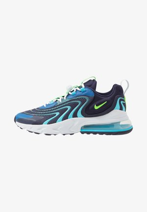 AIR MAX 270 REACT ENG - Sneakers laag - blackened blue/green strike/pure platinum/team royal/blue fury/aura