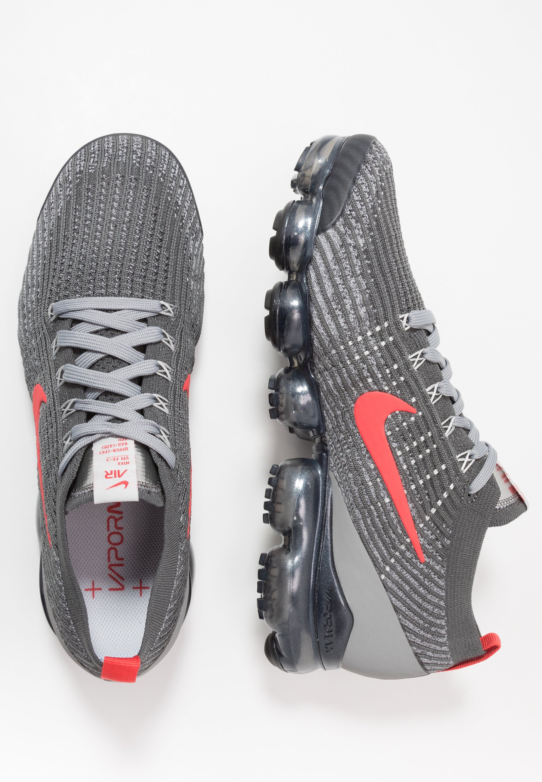 Nike Sportswear Air Vapormax Flyknit 3 - Sneakers Basse Iron Grey/track Red/particle Grey/anthracite/platinum Tint/grey Fog Mb4G5zS