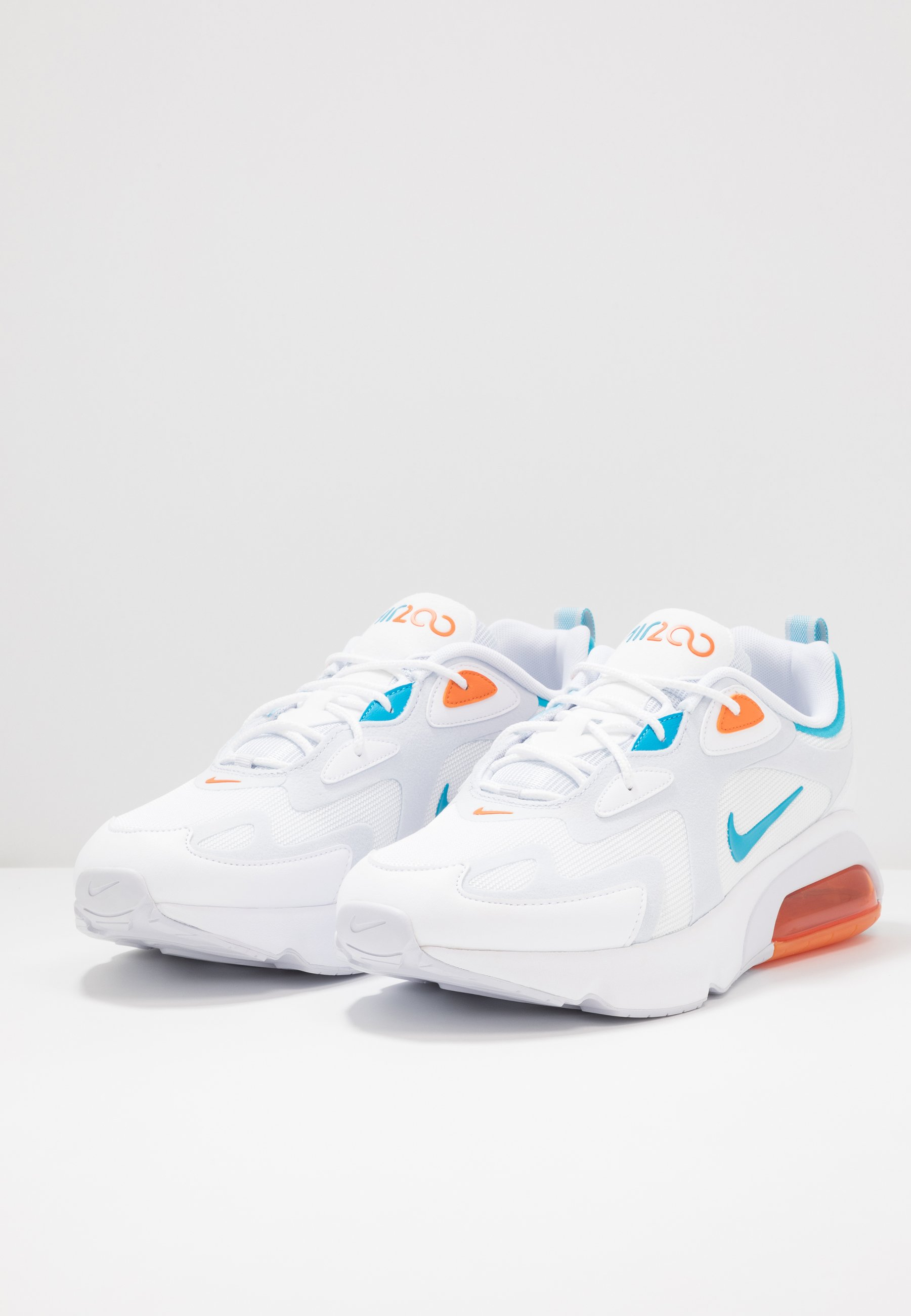 Nike Sportswear AIR MAX 200 - Baskets basses - football grey/laser blue/alpha orange/white