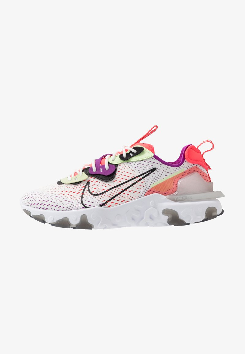 Nike Sportswear - REACT VISION - Trainers - summit white/black/barely volt/laser crimson/vivid purple/white