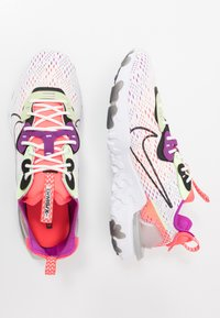 Nike Sportswear - REACT VISION - Trainers - summit white/black/barely volt/laser crimson/vivid purple/white - 1
