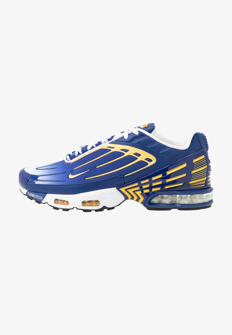 Nike Sportswear - AIR MAX PLUS III - Trainers - deep royal/topaz gold/white