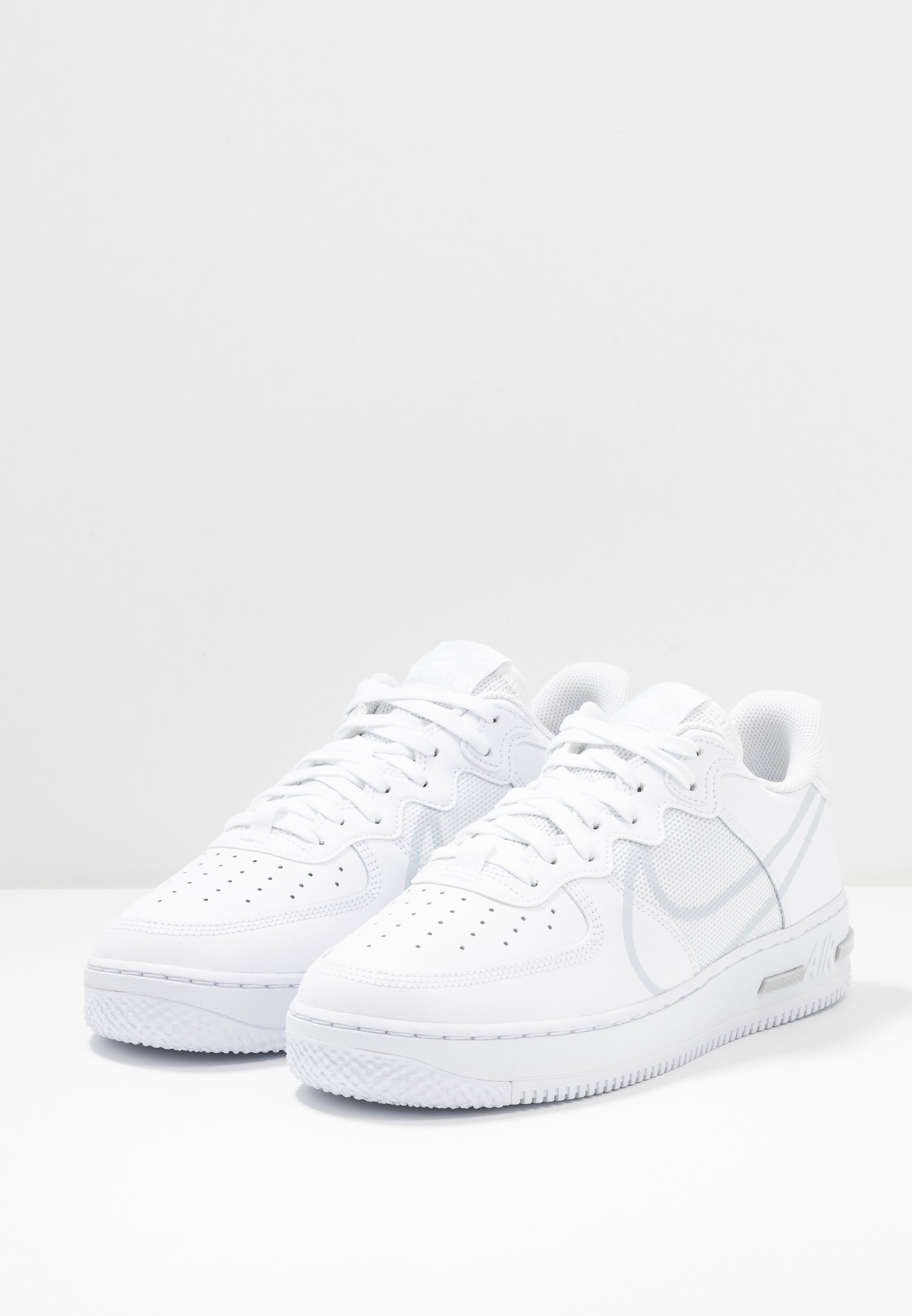AIR FORCE 1 REACT - Sneakers laag - white/pure platinum