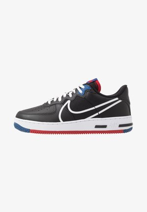 AIR FORCE 1 REACT - Sneakers basse - black/dark smoke grey/laser crimson/voltage purple/hyper crimson/aurora green